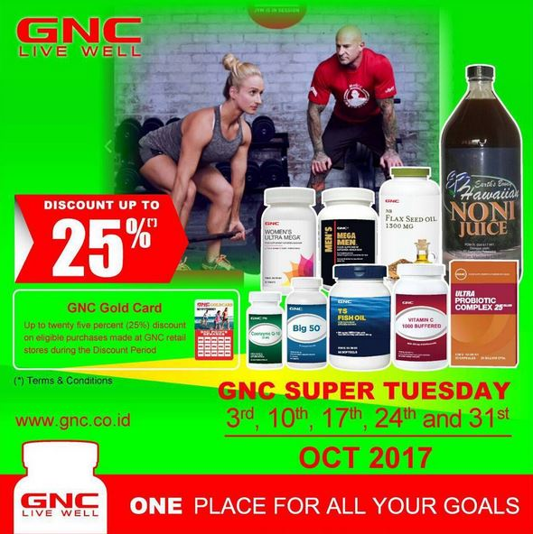 Discount Up to 25% at GNC Live Well