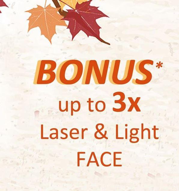 Bonus up to 3x Laser & Light Face from JPP Skin Laser Clinic