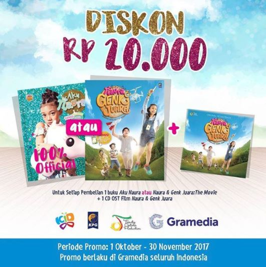 Discount 20% from Gramedia