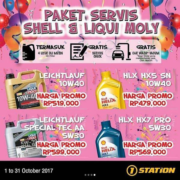 Service Shell & Liqui Moly Package Promotion at 1 Station