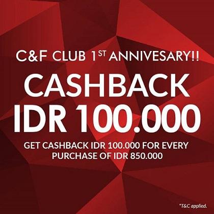 Cashback Rp 100,000 from C&F Perfumery