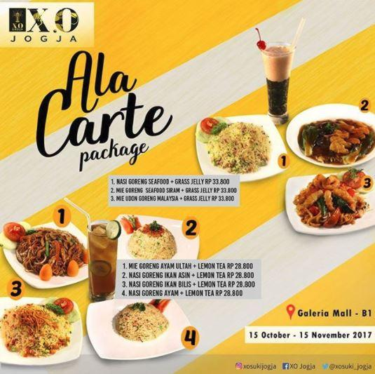 Ala Carte Package Promo From X O Suki Cuisine At Galeria Mall