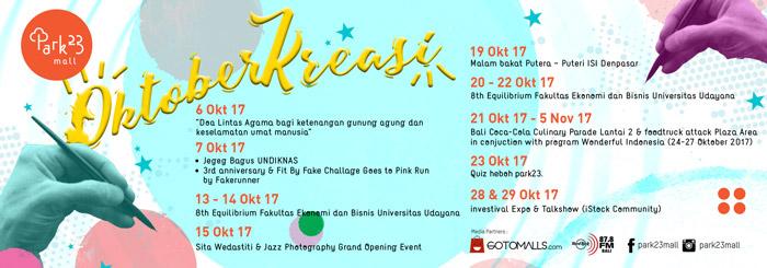 Kalender Event dari Park23