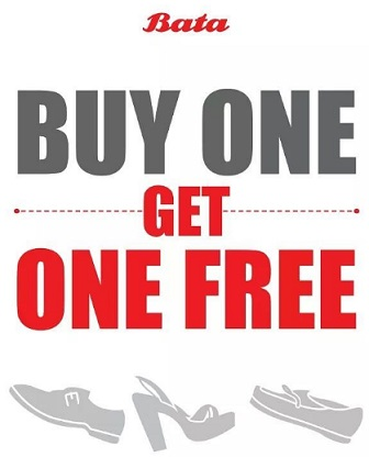 Promo Buy 1 Get 1 Free from Bata