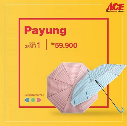Buy 1 Get 1 Free Umbrella at Ace Hardware