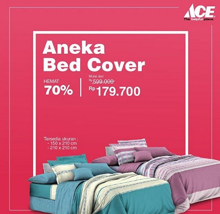 Bed Cover Discount 70% at Ace Hardware