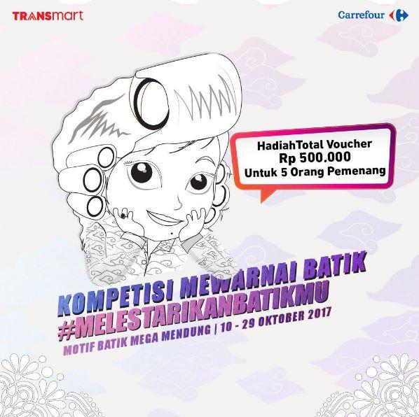 Kompetisi Mewarnai Batik Dari Transmart Blu Plaza Bekasi