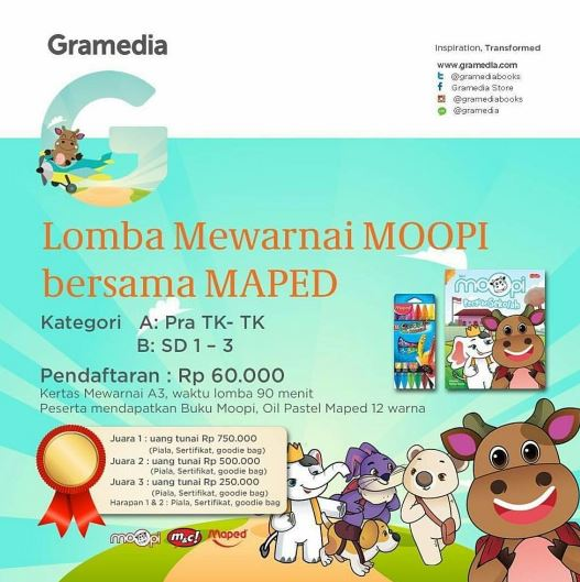 MOOPI Coloring Competition At Gramedia Kids
