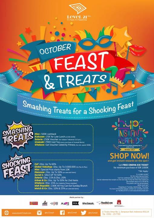 October Feast & Treats at Level 21 Mall