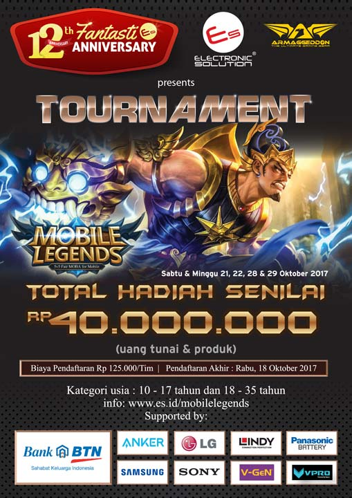 Event Calendar Mobile Legend : Mobile legends tournament bersama electronic solution d