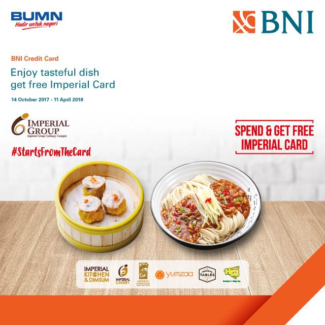 Free Imperial Card from Imperial Group