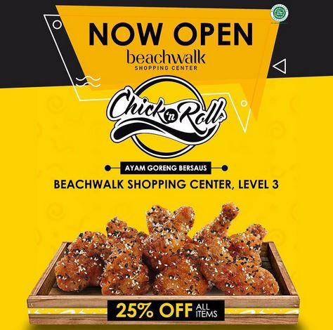 Discount 25% at Chick'n Roll Beachwalk Shopping Mal