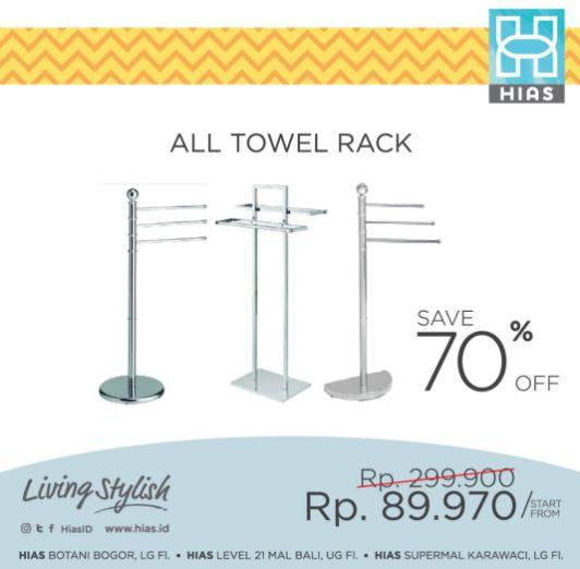 All Towel Rack Discount 70% on HIAS