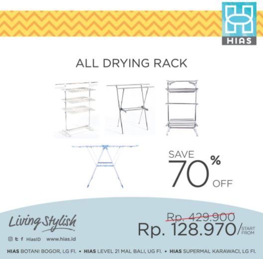 All Drying Rack 70% Discount on HIAS