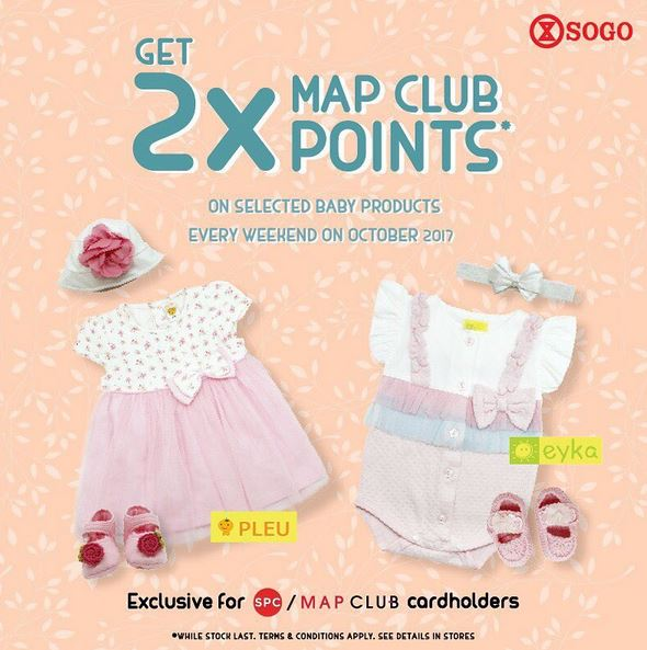 Get 2X Map Club Points at Sogo