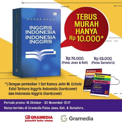 Promo Price Dictionary Indonesia - English Rp. 10,000 in Gramedia