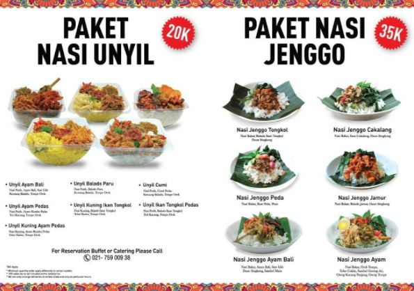 Promo Unyil Rice Package And Jenggo Rice Packages From Betawi Cafe