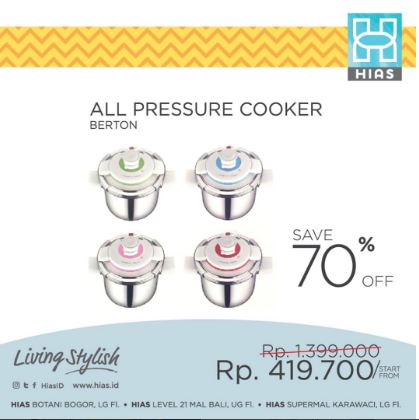 Get 70% Discount For Pressure Cooker from Ornamental