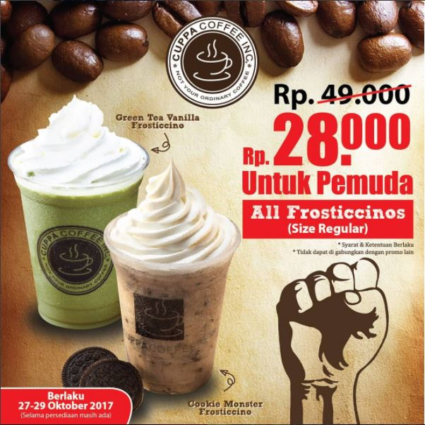 Special Price Promotion from Cuppa Coffee