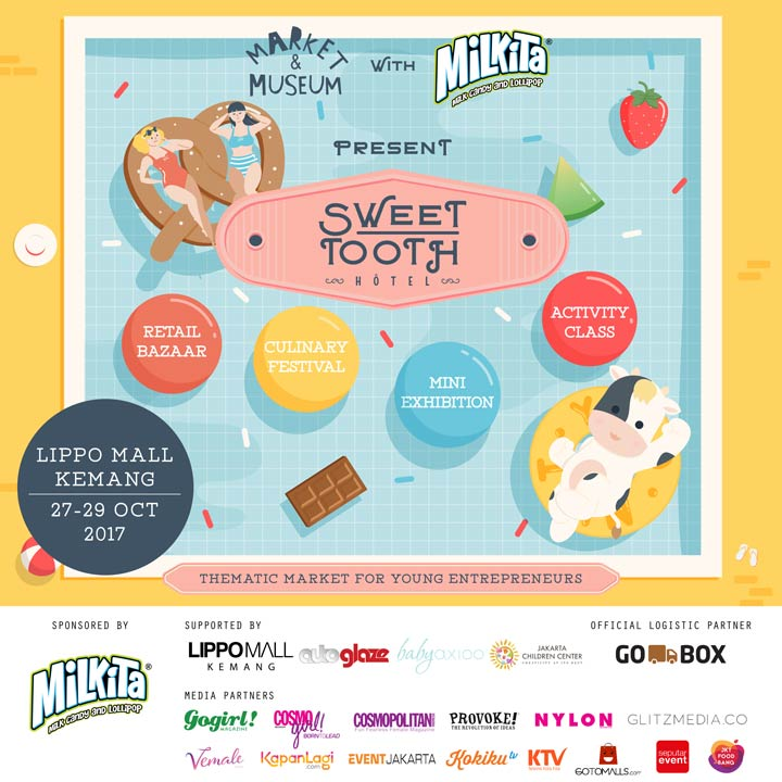 Sweet Tooth Hotel Market & Museum Event at Lippo Mall Kemang