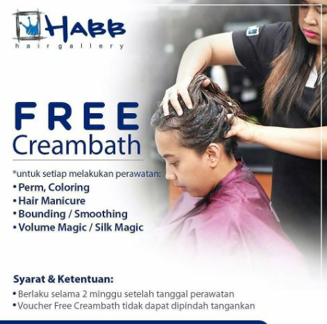 Free Creambath Promotion at Habb Hair Gallery
