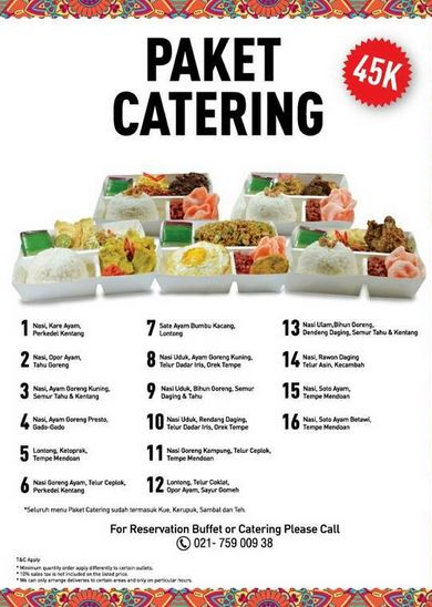 Catering Package Promotion from Kafe Betawi