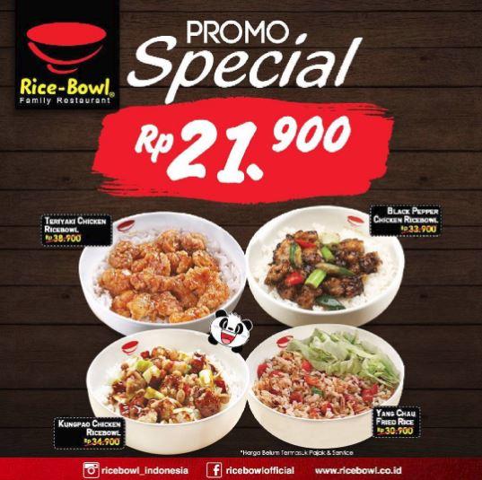 Special Rice Bowl Promo Menu
