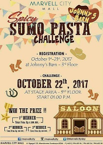 Spicy Sumo Pasta Challenge at Marvell City