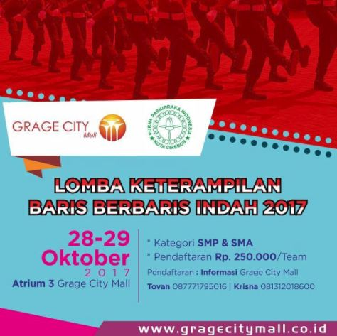 Marching Line Skills Competition 2017 in Grage City Indah Mall