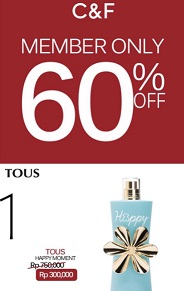 Member Promo Discount 60% Off at C&F Perfumery