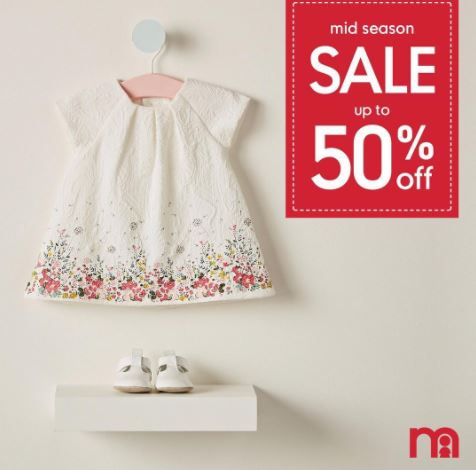 Discounts up to 50% from Mothercare