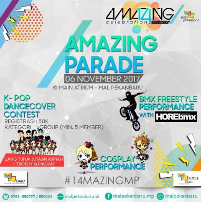 Amazing Parade at Mall Pekanbaru