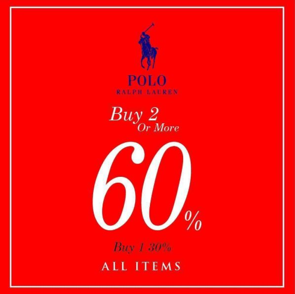 Discount Up to 60% from Polo Ralph Lauren