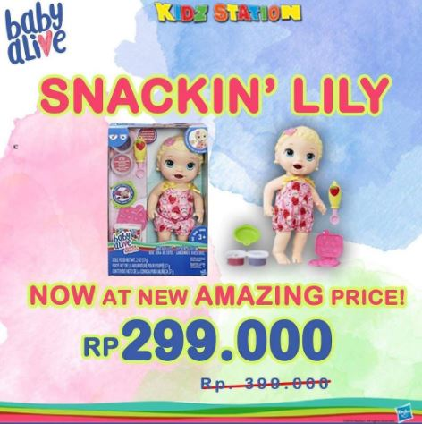 Special Price Promotion Snackin 'Lily at Kidz Station