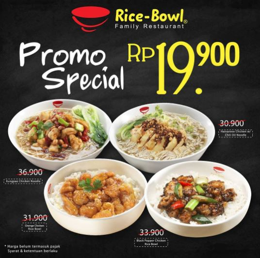 Promo Special Menu Rp 19.900 from Rice Bowl
