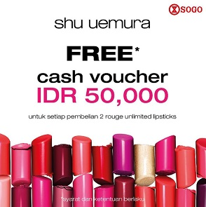 Free Cash Voucher Rp 50,000 at SOGO Department Store