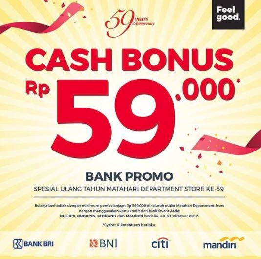 Cash Bonus Rp 59.000 from Matahari Dept Store