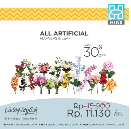 30% All Artificial Discount on Ornamental