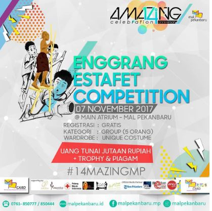 Enggrang Estafet Cometition at Mall Pekanbaru
