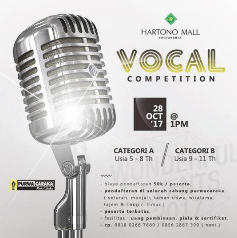 Vocal Competition at Hartono Mall Jogja