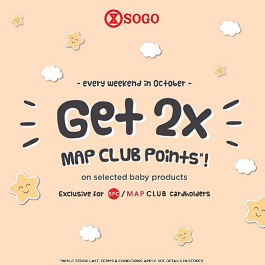 Get 2X MAP Club Points from SOGO Department Store