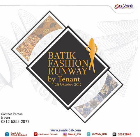 Batik Fashion Runway at E-Walk