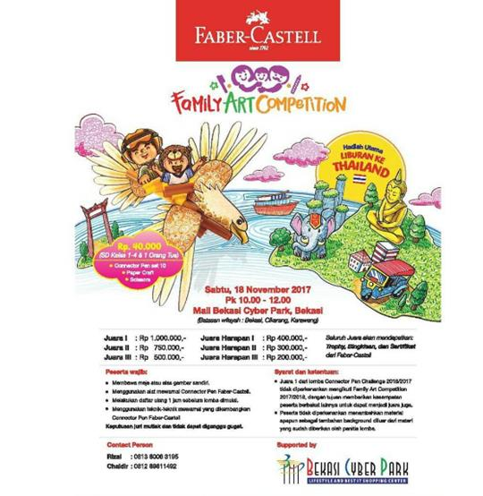 Familly Art Competition Bersama Bekasi Cyber Park Dan Faber Castell