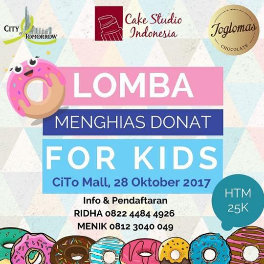 Lomba Menghias Donat Untuk Anak Anak Di Cito Mall Surabaya Gotomalls