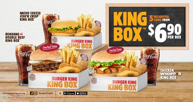 King Box Promotion At Burger