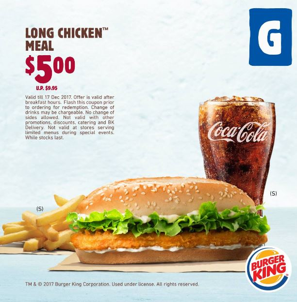 Long Chicken Meal Promotion At Burger King Compass One