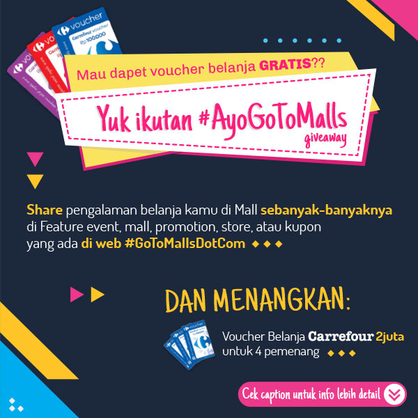 Shopping Voucher Millions of Rupiah at #AyoGoToMalls Giveaway