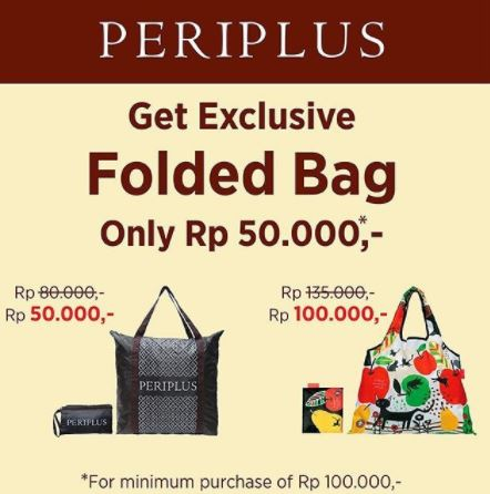 Folded Bag Promotion at Periplus