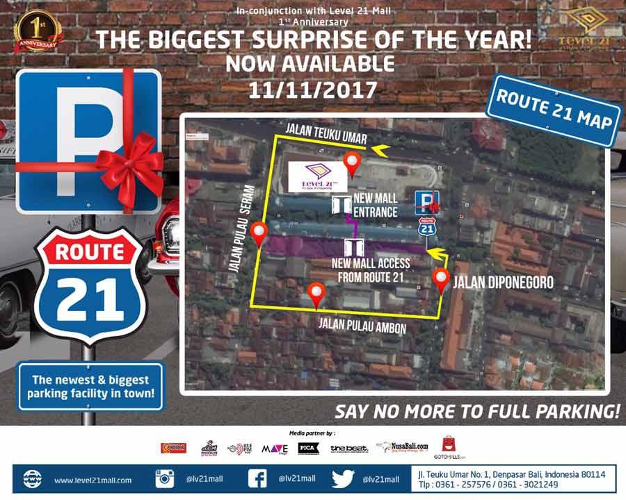 Route 21 di Level 21 Mall