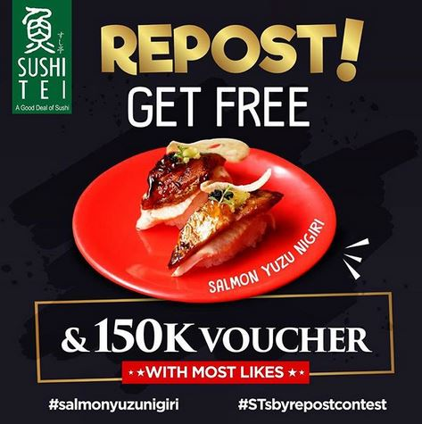 Repost & Win at Sushi Tei